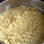 pot of nearly-cooked quinoa