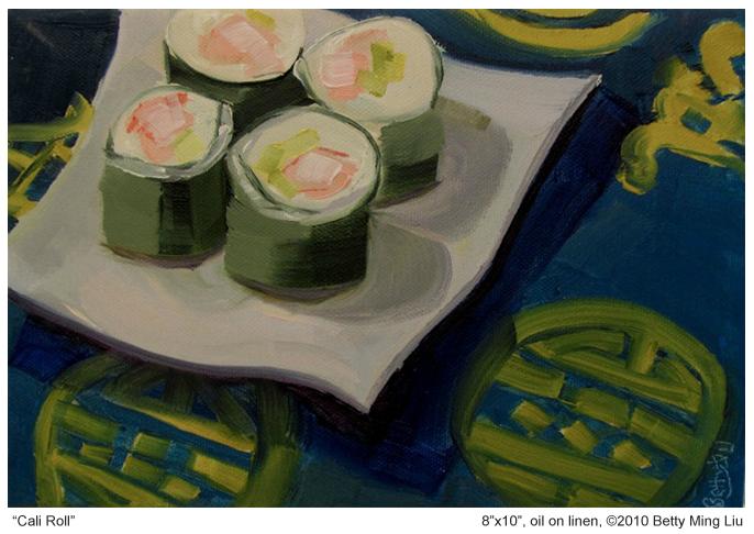 Betty Ming Liu sushi painting
