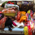 Scarves, shawls, skirts, pants, towels, blankets -- were only a few dollars.