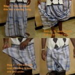 The lungi is an ingenius tube of fabric. The man skirt. But I like it too.
