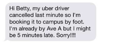 uber excuse