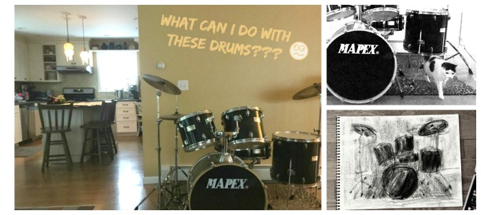 a collage of my drums