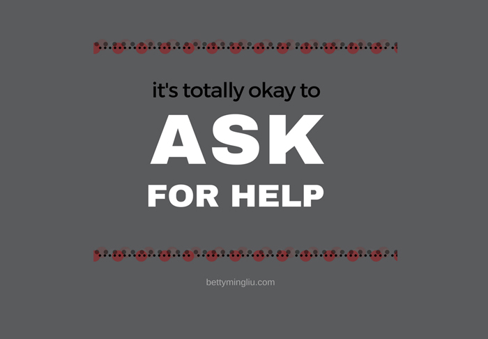the smartest thing i've learned to do is ask for help