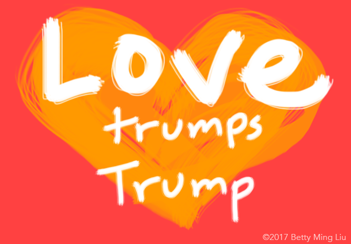 #LovetrumpsTrump