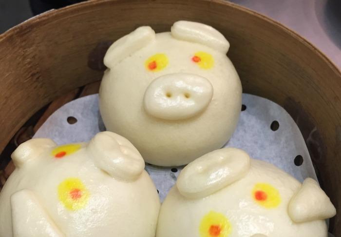 Piggy dim sum buns