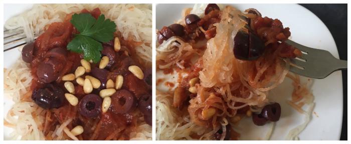 How to make daikon spaghetti